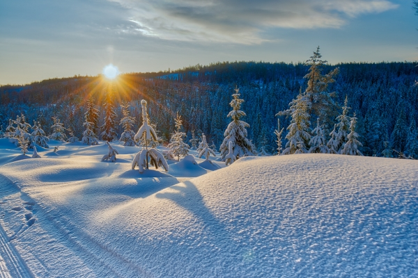 Eggevollen en fantastisk vinterdag