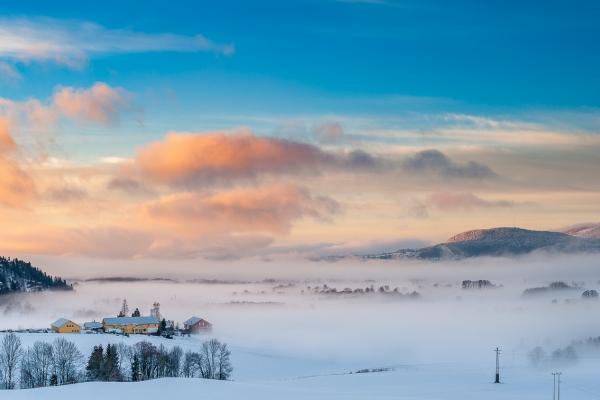 Morgentåke vinterstid