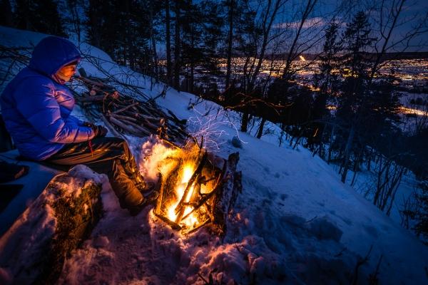 Brenning av bål i Reistadlia